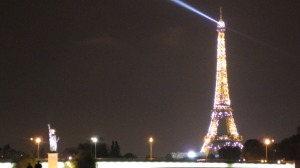 Shimmering Eiffel Tower