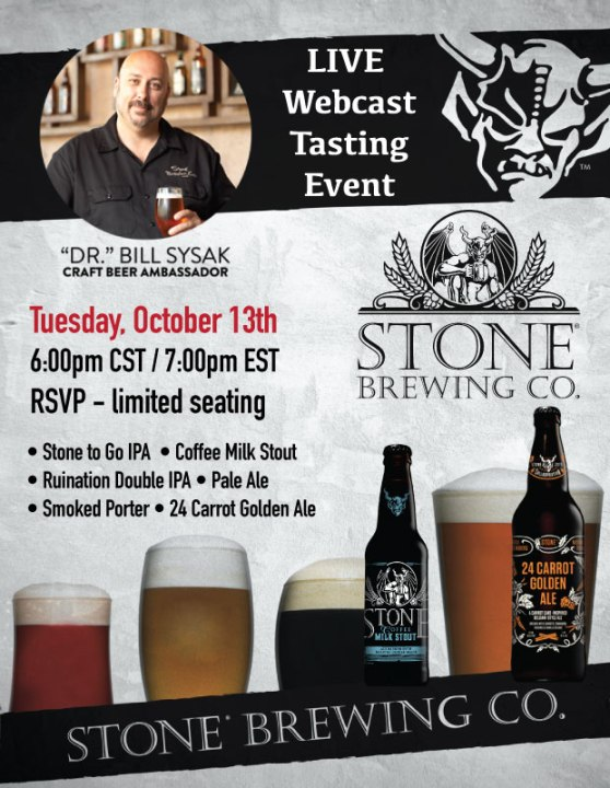 Stone Brew Webcast Tasting Event