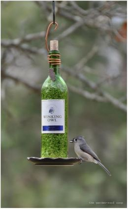 wine bottle bird feeder winestyles