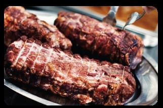 roast pork loin rosemary with garlic image