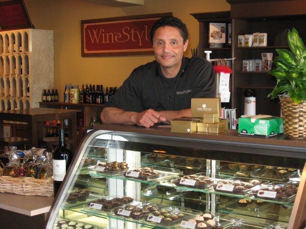 Bob behind the counter at WineStyles