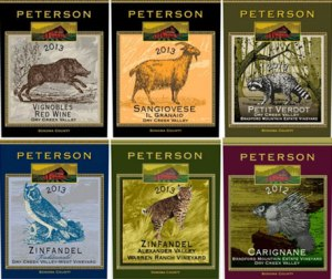 Peterson wine labels