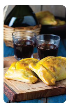 beef empanadas with wine