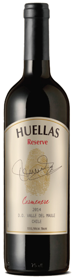 Huellas Reserve Carmenere wine bottle