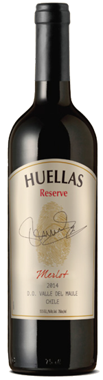 Huellas Reserve Merlot wine bottle
