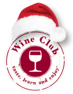 wine club logo holiday