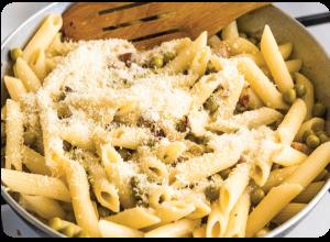 Pasta Lemon Cream Prosciutto