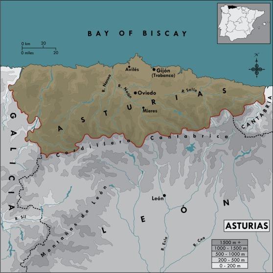 Asturias Map