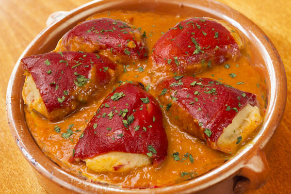 piquillo stuffed peppers tapas