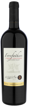 Forefathers Cabernet wine bottle