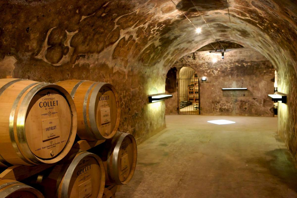 Champagne Collet Cellar