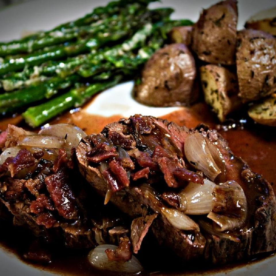 Beef Tenderloin with Shallots